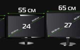 Несколько способов как определить диагональ телевизора